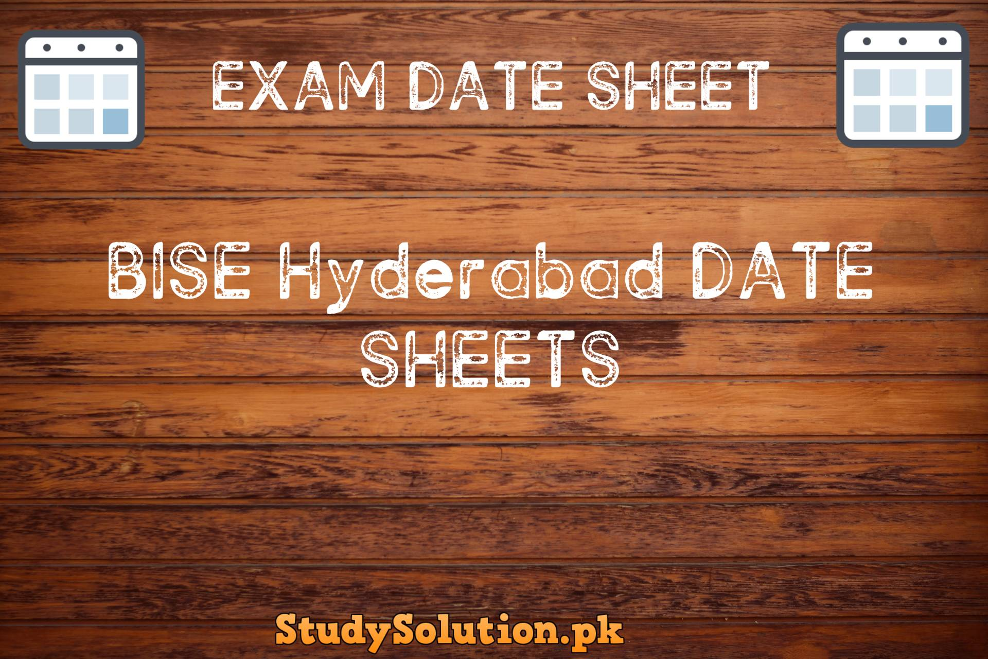 BISE Hyderabad Date Sheets