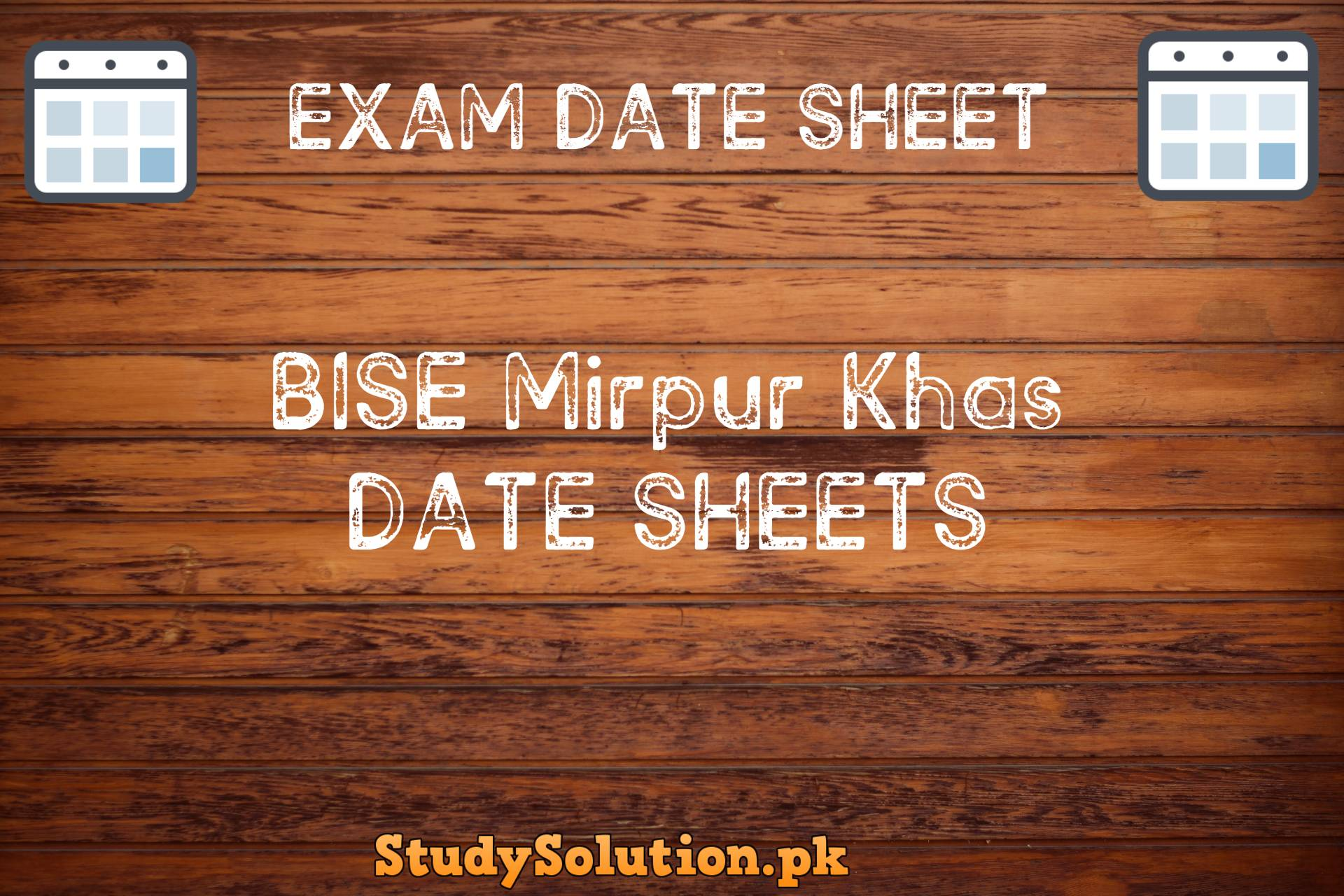 BISE Mirpur Khas Date Sheets