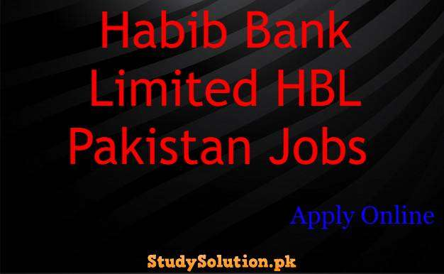 Habib Bank Limited HBL Pakistan Jobs Apply Online