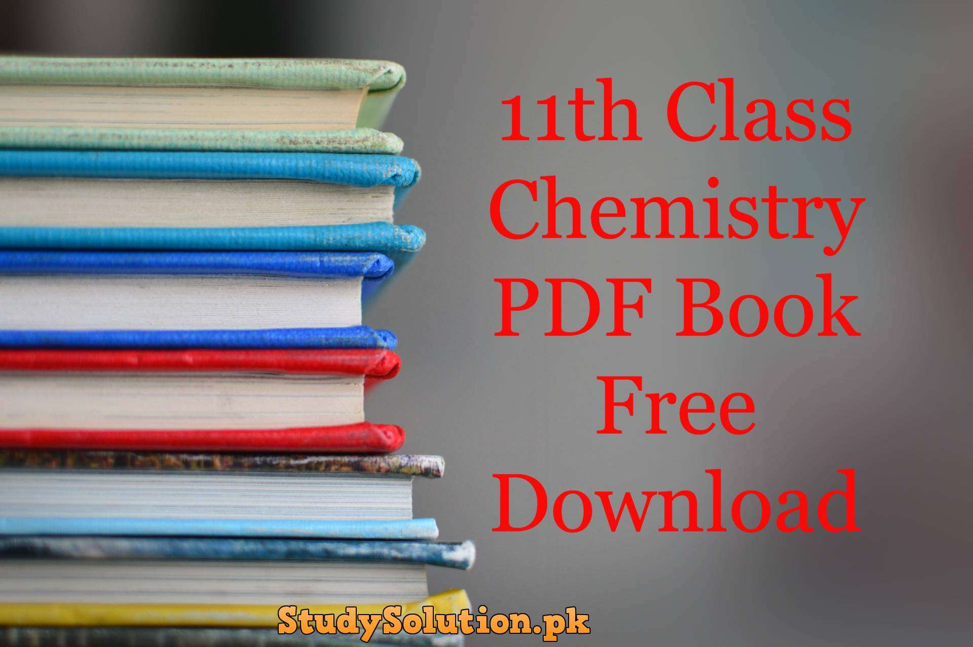 11th Class Chemistry PDF Book Free Download