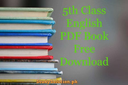 5th Class English PDF Book Free Download