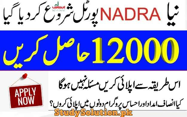 Insaaf Imad Cash Programme Apply Online