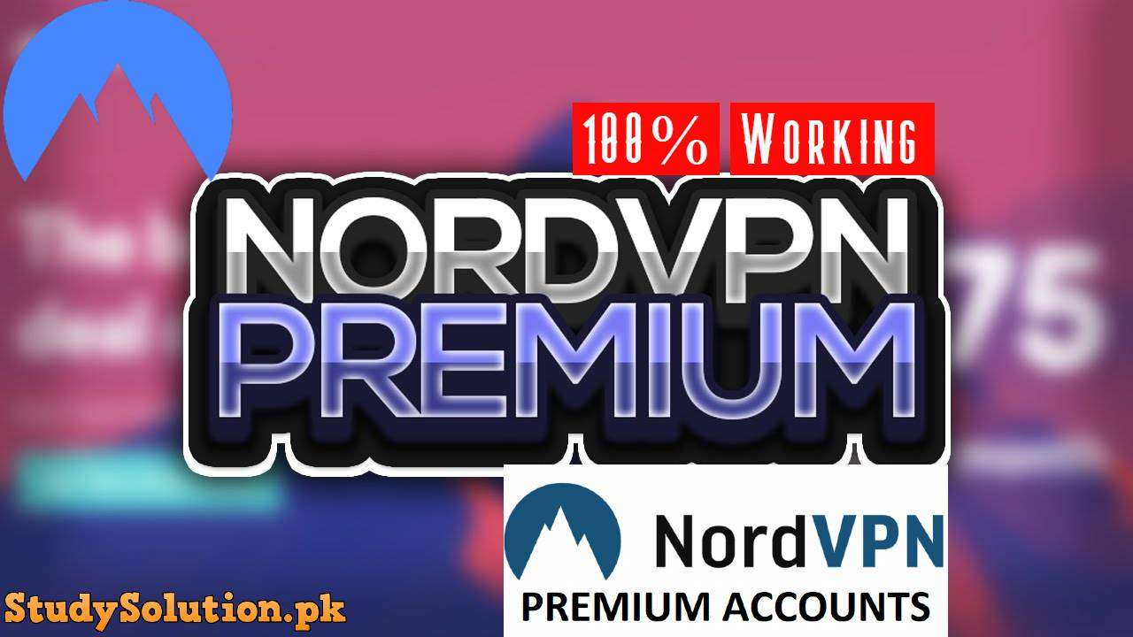Nord VPN Premium Accounts Lists 2020 100% Working