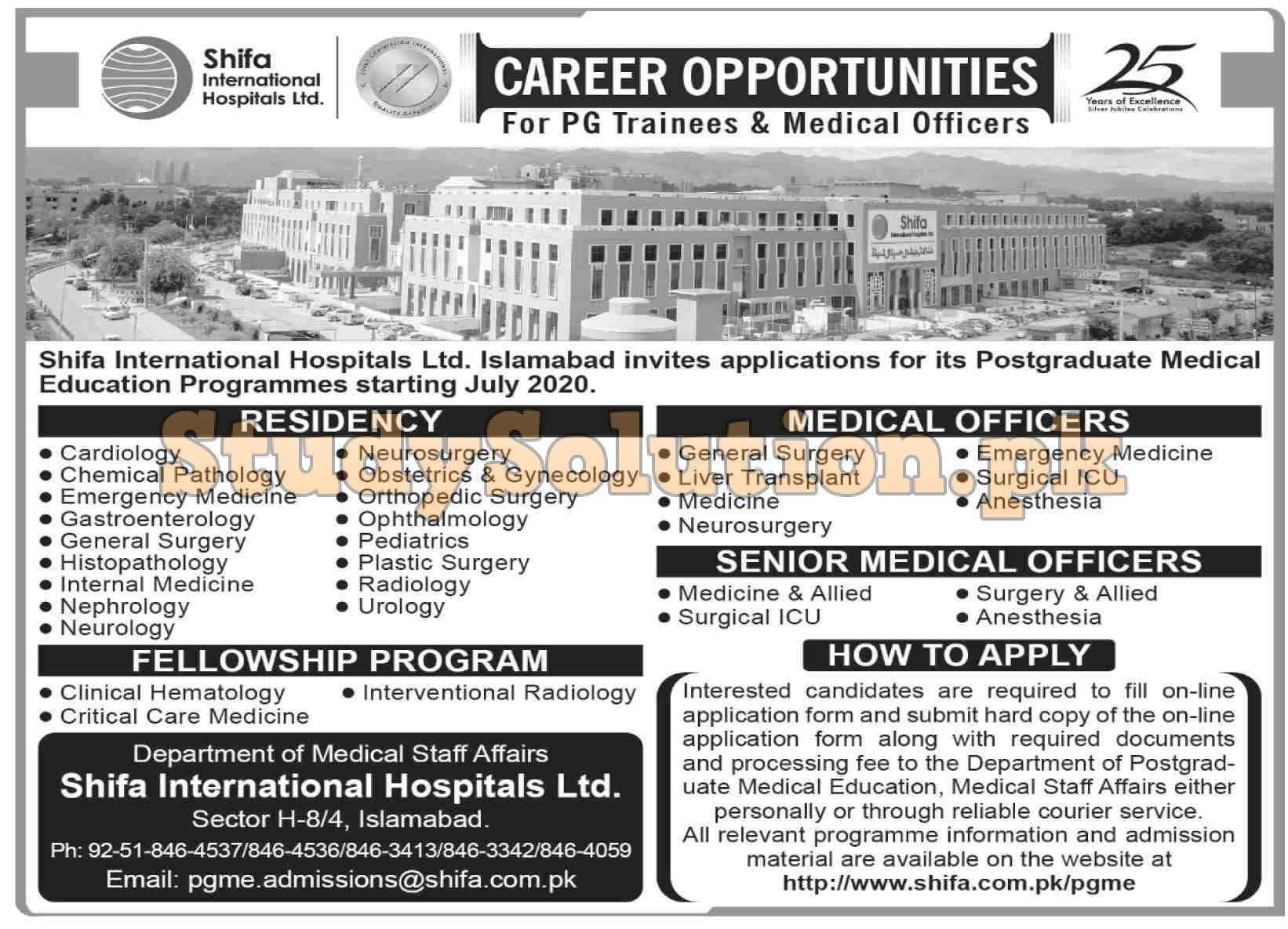 Shifa International Hospital Latest Jobs 2020