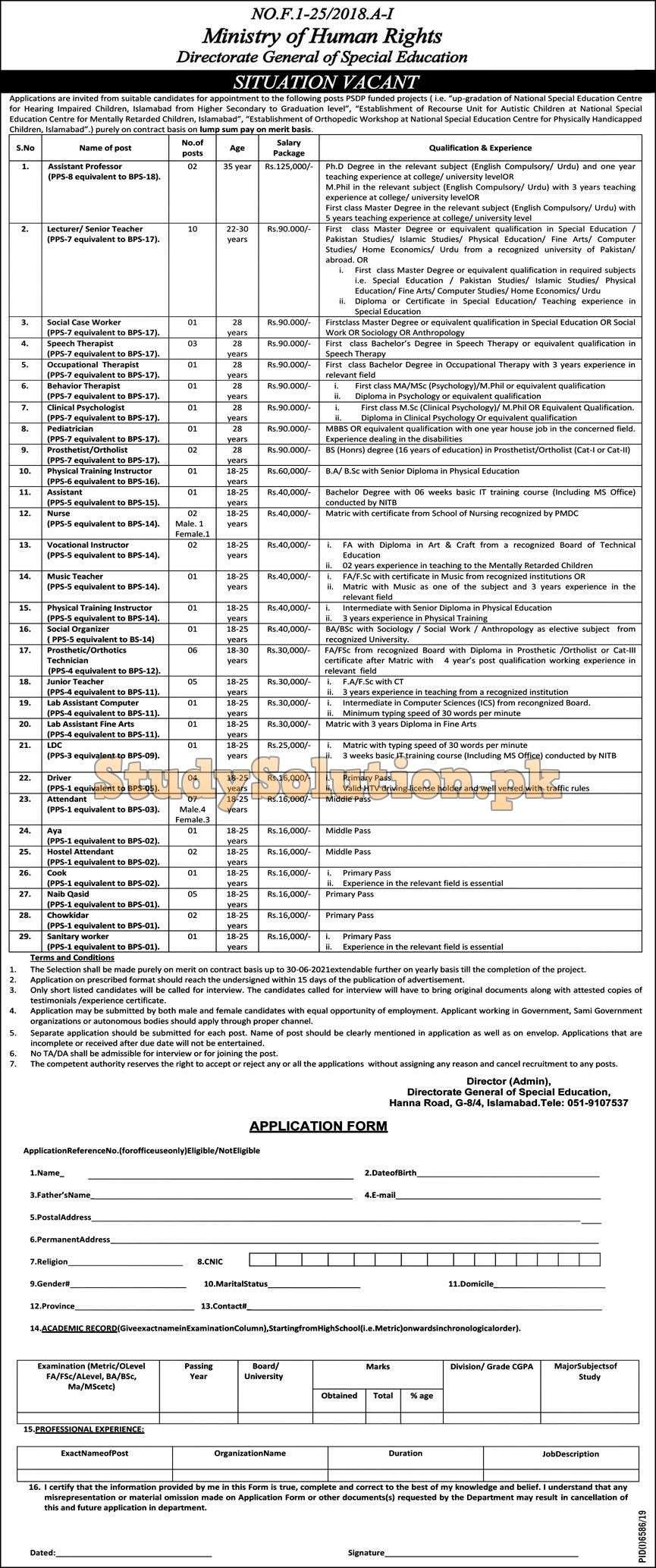 Ministry of Human Rights Latest Jobs 2020