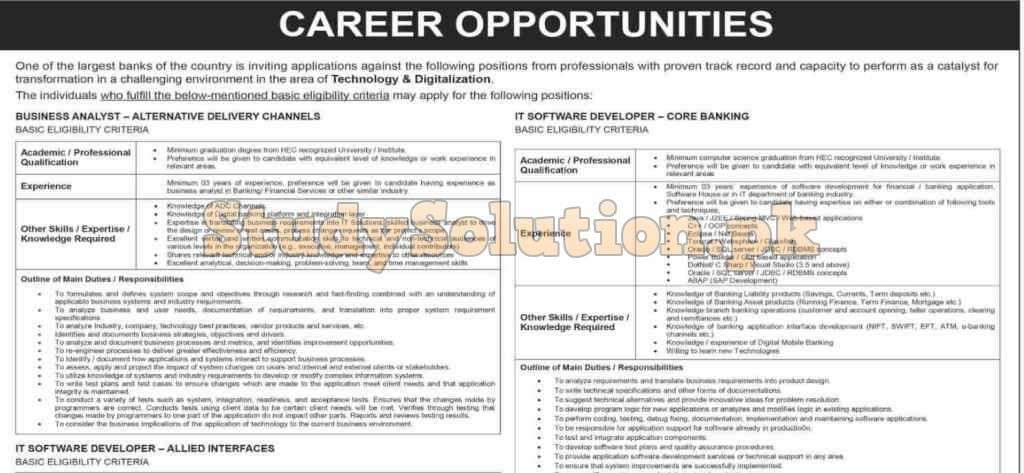 National Bank of Pakistan NBP Latest Jobs 2020 Apply Online