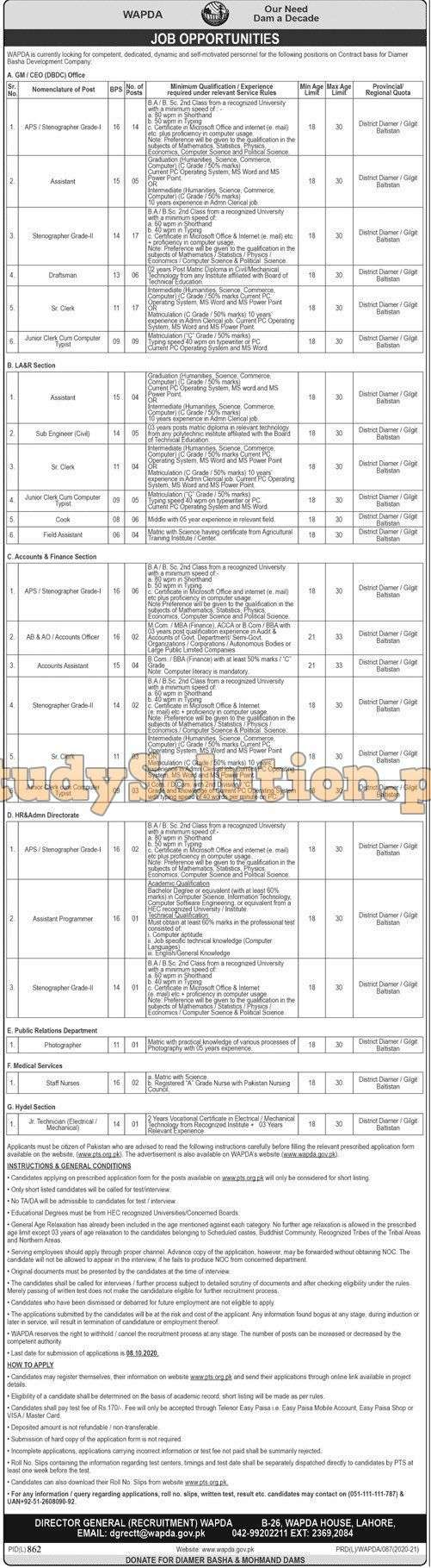 New WAPDA Jobs September 2020